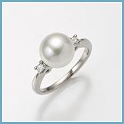 真珠サイズ約8.8mm、リング幅約2mm