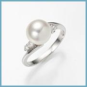 真珠サイズ約8.6mm、リング幅約2mm