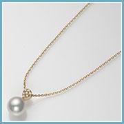 真珠サイズ約8.3mmチェーン最長45cm